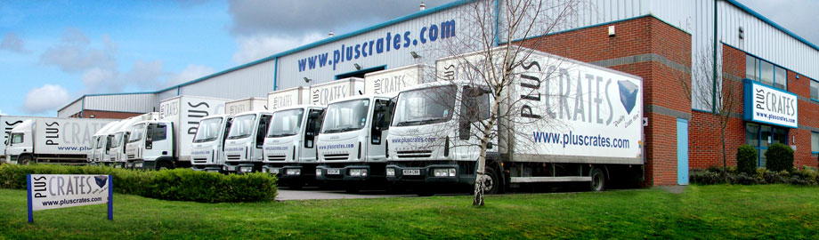 Pluscrates Retail Totes Service Centre - Building and Pluscrates Lorries